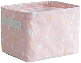 HXSD Foldable Cotton Linen Sundries Storage Desktop Bed Storage Box Printing Waterproof Organizer Basket Cabinet Cloth Sto...