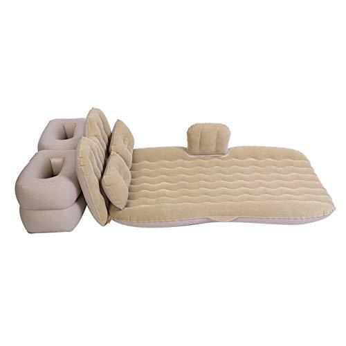 Colchón Inflable del Asiento Trasero del Asiento Trasero con la Bomba Plegable Multifuncional para Descansar, Dormir, Recorrido de Acampar (Color : Beige)