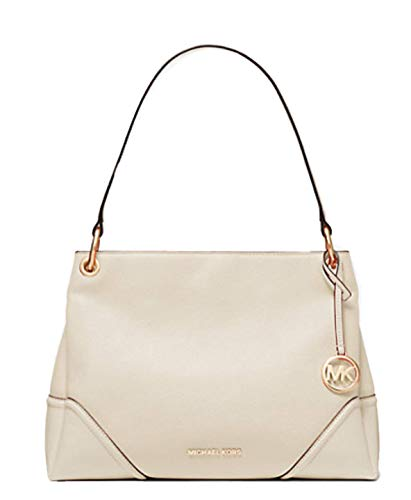Open top with snap closure; Large middle zip compartment 2 open compartments on both side and snap closure; Zip pocket and 1 open pocket Shoulder strap of 11 inches drop; Gold hardware Measurements: Length: 13 x Height: 10 x Width: 6 Inches