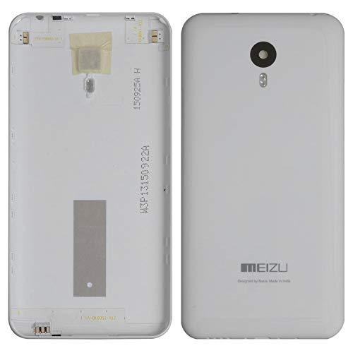 Piezas de repuesto de la cubierta trasera de la batería de la carcasa compatible con Meizu M2 Note, (blanco)
