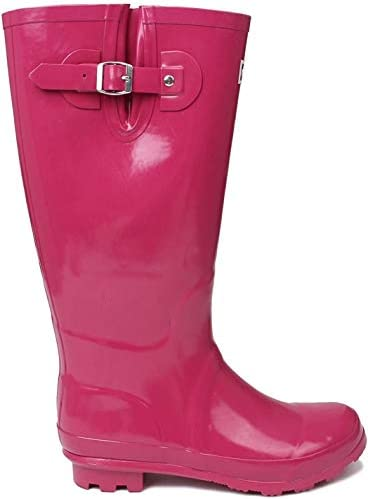 Kangol Womens Tall Wellies Ladies Wellington Boots Rubber Rain Design Shoes Berry UK 4 37 product image