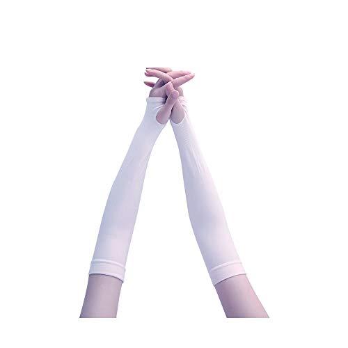 SJ Mangas de hielo silvestre mangas de seda protector solar para mujeres y hombres guantes de conducción de protección UV para brazo mangas de brazo (color: púrpura)
