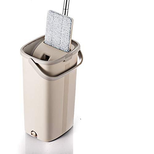 DIANZI Mop De automatische reiniging van de Magic vlakwisser en de emmer met handsfree 360 graden kop is ideaal voor nat- en droogreiniging van alle oppervlakken