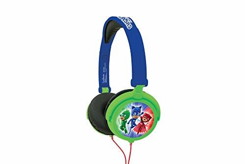 Pj Mask-REHP015PJM PJ Mask Pijamasks-Cascos estéreo, auriculares con diadema ajustable y plegable (Lexibook HP015PJM), color azul, 20.4 x 16.8 x 7.3cm