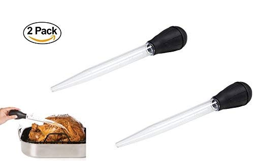 2 Large Turkey Baster Squeezer. Food, Chicken, Marinaters. Silicone Rubber Suction. Measure up to 1 oz.