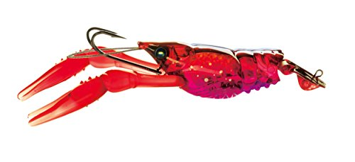 Yo-Zuri 3DB Crayfish Slow Sinking Lure, Prism Red, 3-Inch