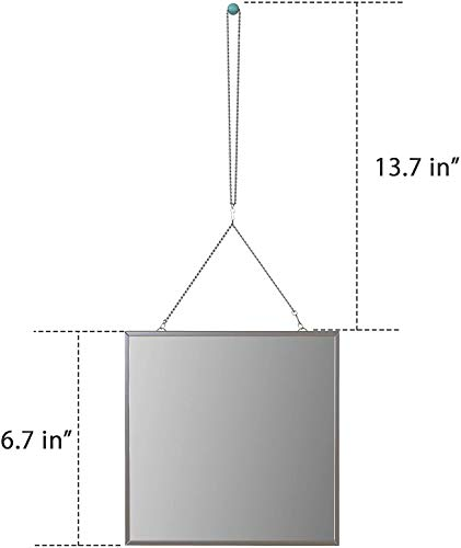 31CN4L0VvPL - Cozylady Fogless Shower Mirror for Shaving - Nanometer Small Vanity Mirror Makeup Mirror with Metal Chain Locker Mirrors for Wall-Anti-Fog Bathroom Mirror Wall Mirror Anti-Drop Protection Frame