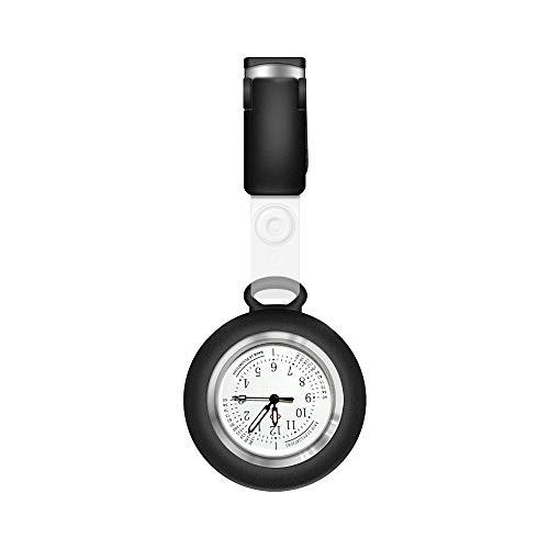 Anzorhal Schwesternuhr Ansteckuhr FOB Taschenuhr Uhr Krankenschwesteruhr für Medizinisches Personal,leuchtet im Dunkeln,Silikonband mit Pin/Clip,Analog-digital,Quarzwerk