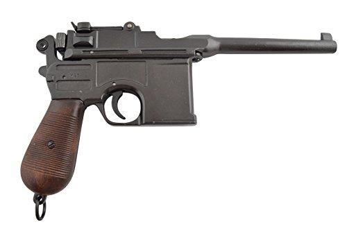 Denix Deko deutsche Militärpistole Mauser C 96 aus dem 1. Weltkrieg Nachbau
