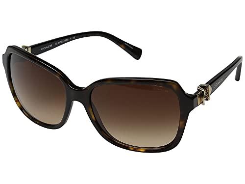 Coach Womens Sunglasses (HC8179) Tortoise/Brown Acetate - Non-Polarized - 58mm