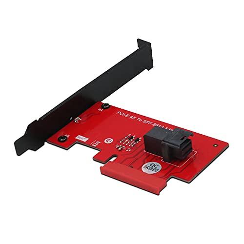 Tarjeta adaptadora SFF-8643 a PCIe 4X 2,5 Pulgadas U.2 PCIe NVMe convertidor SSD de 36 Pines Tarjeta de expansión de Disco Duro Computadora de Escritorio