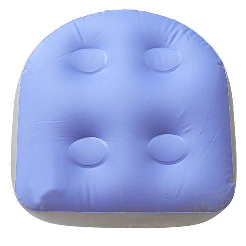 TXYFYP Opblaasbaar massagekussen voor badkuip, spa- en badkuip, met zuignap, voor volwassenen en kinderen