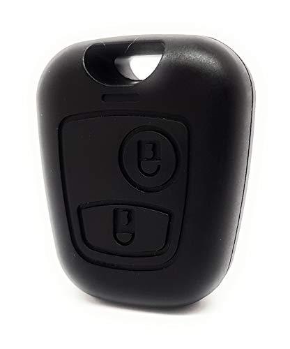 DigitalTech - Carcasa Compatible para Llave Citroen CE1065 sin Tornillo. Sin Hoja. 2 Botones. Compatible con Llaves Citroën Xsara Picasso Berlingo