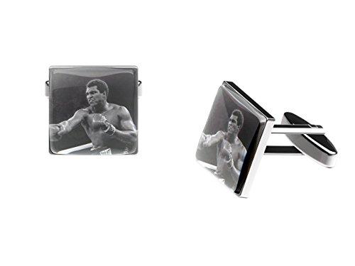 Muhammad Ali Boutons de manchette (légendaire Boxer Boutons de manchette avec boîte cadeau)