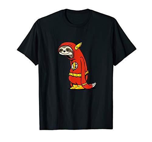 Lustiges Faultier Flash Shirt als Superheld Geschenk T-Shirt