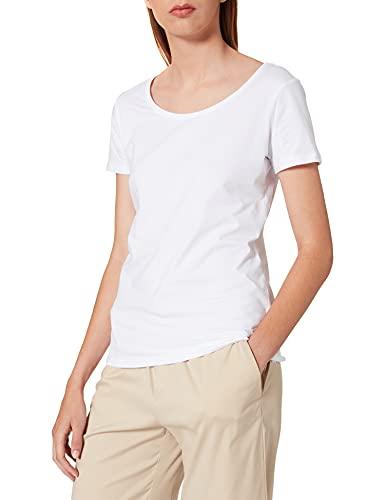 ESPRIT Damen 999Ee1K815 T-Shirt, Weiß (White 100), Large (Herstellergröße: L)