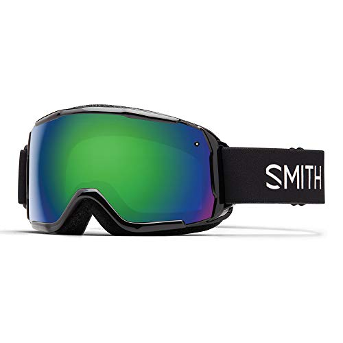 SMITH (SMIZD) Unisex Jugend GROM Skibrille ohne Chroma Pop, Black, Youth Fit - mittelgroß