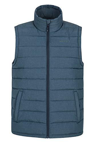 Mountain Warehouse Seasons Gepolsterte Herren-Weste - Wasserbeständig, warm, leichte Jacke mit Zwei Fronttaschen, leicht zu verstauen - Ideal für Reisen im Winter Marineblau XXL