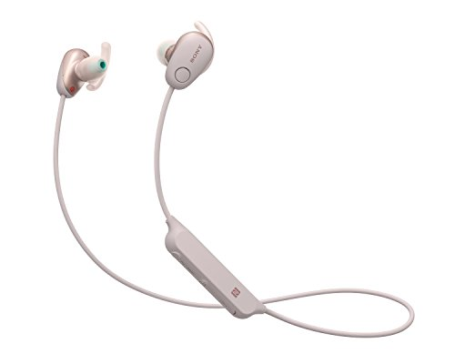 Sony WI-SP600NP Cuffie Wireless Sport Intrauricolari, Noise-Cancelling, Water-Proof IPX4, Rosa, con Alexa integrata