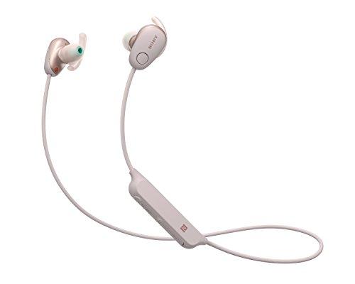 Sony WISP600NP.CE7 - Auriculares deportivos inalámbricos (modo sonido ambiente, cancelación de ruido, Bluetooth y NFC), color rosa
