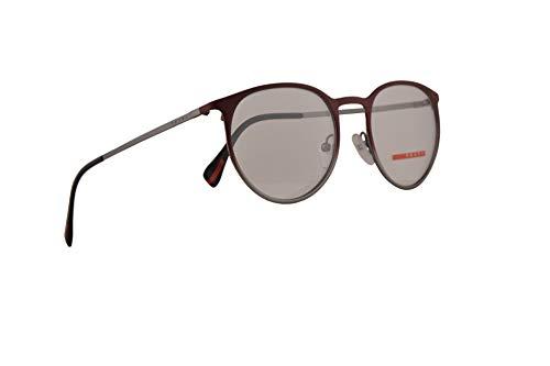 Prada PS50HV Gafas 50-19-140 Burdeos Y Gris Degradado Con Lentes De Muestra U6V1O1 VPS 50H PS 50HV VPS50H