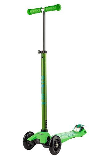 Micro® Maxi Deluxe, Diseño Original, Patinete 3 Ruedas, 5-12 Años, Peso 2,5kg, Carga hasta 70Kg, Altura 67-91cm, Rodamientos ABEC 9, Plataforma Antideslizante… (Verde, Única)
