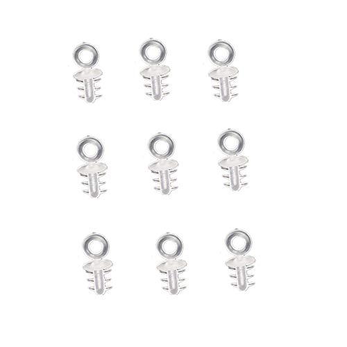 Super Idee 100 Stück Aufhänger für Styroporkugeln Weihnachtskugeln und Eier aus Plastik oder Styropor Plüschbälle Eieraufhänger Kugelaufhänger Ostereier Anhänger (3 mm Durchmesser)