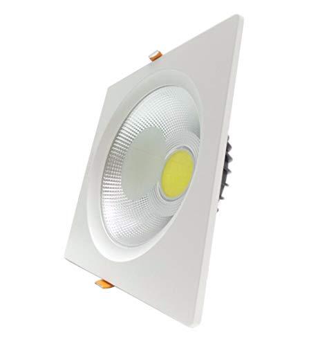 Downlight Foco LED COB cuadrado 40 W 235 mm – Blanco cálido 2300 K – 3500 K