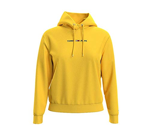 Tommy Hilfiger Damen Tjw Linear Logo Hoodie Pullover, Star Fruit Yellow, M