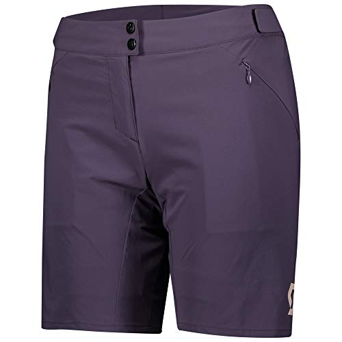 Scott Endurance 2021 Women's Cycling Shorts with Inner Shorts Black, womens, Dark purple, S