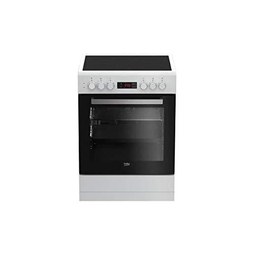 Beko fze67300wcs cuisiniere Table vitrocéramique- 4 Zones-Four électrique multifonction-82 l-a-l 60 x h 85 cm-Blanc