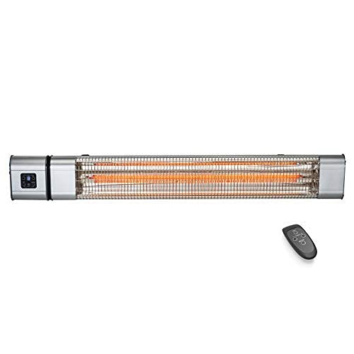 WGFGXQ Wall Mounted Infrared Radiant Heater, Patio Electric Heater for Outdoor Garden, 2400W, IP65 Waterproof, 9 Hours Timer,3 Power Settings