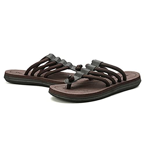 HSHOR Sandalias de Tanga para Adultos para Adultos de Flip de Adultos para la Playa/Piscina con una Espuma de Yoga sin Deslizamiento de Espuma de Espuma de Espuma (Color : Brown, Size : 41EU)