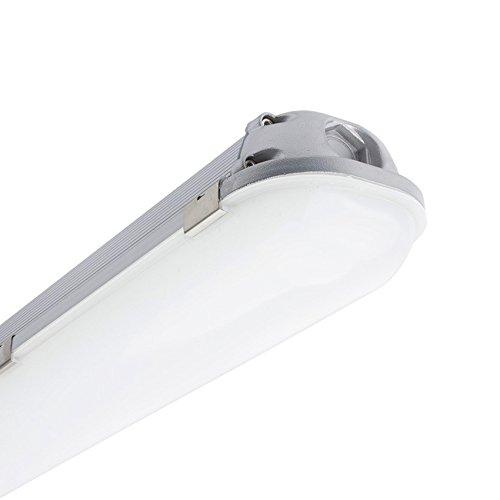 LEDKIA LIGHTING Pantalla Estanca LED Integrado Aluminio 1200mm 40W Blanco Frío 6000K - 6500K