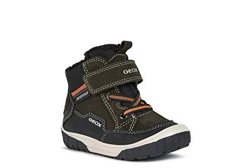 Geox Baby-Jungen B OMAR Boy WPF A Ankle Boot, Green (Dk Green/Black), 26 EU