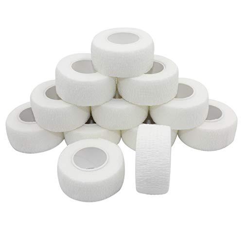 COMOmed selbstklebender verband elastische binde handgelenk bandage pflaster rolle Dog Bandagen Tierische Bandagen Weiß 2.5 cm X 4.5 m 12 Bände