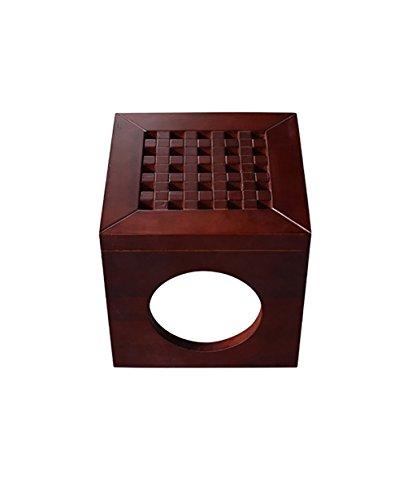 WUFENG Multifonction Shiiki Cube en Bois Tabouret Petit Banc, 4 Couleurs en Option, 28 * 28 * 28cm (Couleur : B)