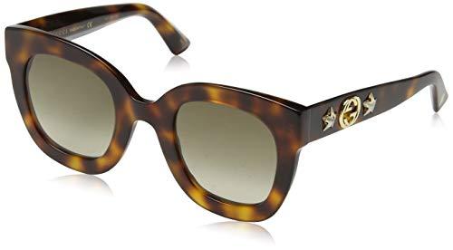 Gucci GG0208S 003 Occhiali da Sole, Marrone (3/Brown), 49 Donna