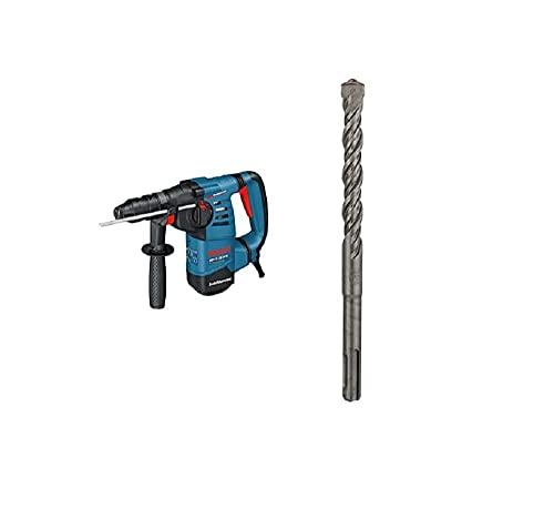 Bosch Professional GBH 3-28 DFR - Martillo perforador (3,1 J, máx. hormigón 28 mm, portabrocas SDS plus + cilíndrico, en maletín) + Broca SDS Plus (hormigón, diámetro 12 mm, Longitud 165 mm)