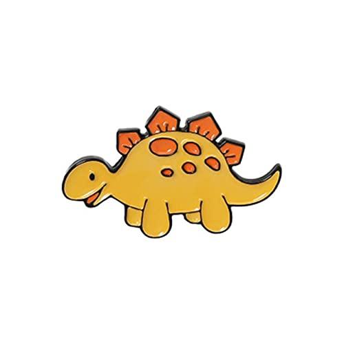 Broche De Pequeno Dinossauro Dos Desenhos Animados Animal Selvagem Bonito Pterodáctilo Triceratops Alfinete De Esmalte Emblema De Besta Engraçada Em Estilo De Joia 4