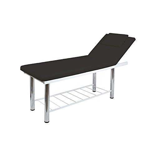 Massageligstoel vast, 2 lichten, gezichtsopening, zwart