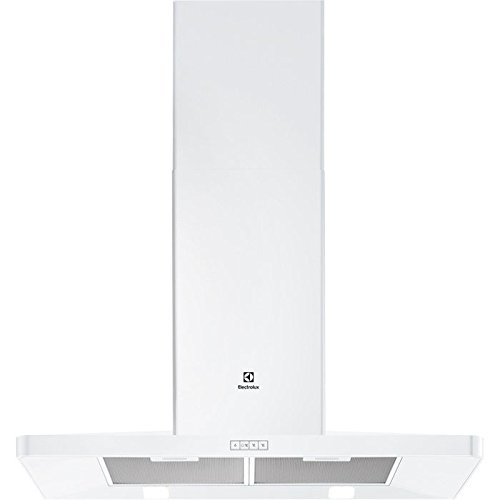 Hotte decorative murale Electrolux EFF90462OW - Hotte aspirante Pyramide - largeur 90 cm - Débit d'air maximum (en m3/h) : 603 - Niveau sonore Décibel mini. / maxi. (en dBA) : 47 / 67