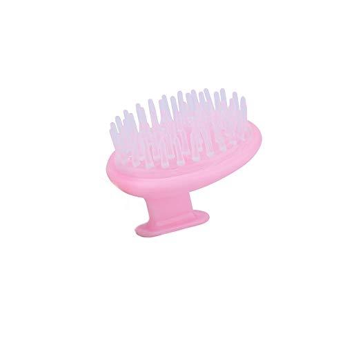 YUEMING Masajeador cuero cabelludo, masajeador de ducha,cepillo de champú,cepillo de champú del cuero cabelludo masaje peine de silicona suave para hombres y mujeres Rosa