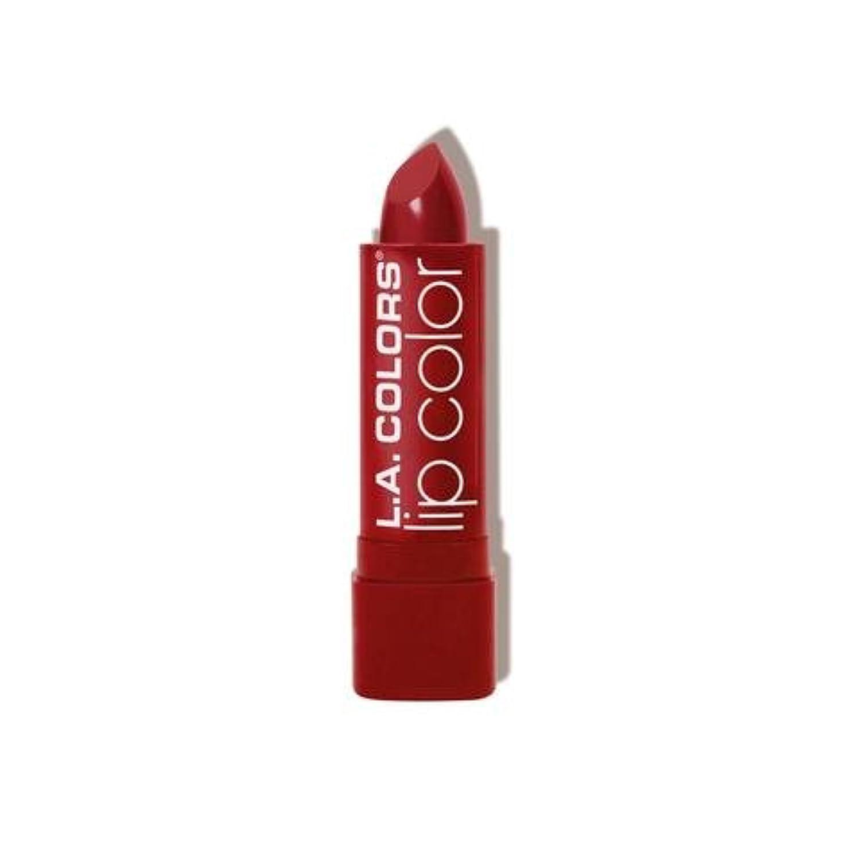 フィッティング姓ポジティブ(6 Pack) L.A. COLORS Moisture Rich Lip Color - Berry Red (並行輸入品)
