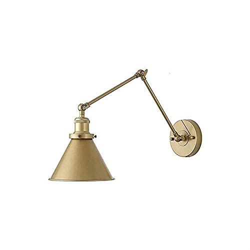 Konsol ljus minimalistisk stil metall konsol belysning antik justerbar metallfäste ljus, e27 inomhus vintage utdragbar säng sovrum läslampa, loft swing kort arm vägglampa