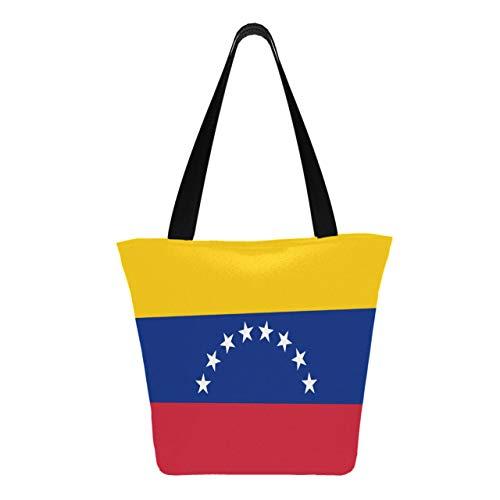Flagge Venezuela Civil Variant Accurate 11 × 7 × 13 Zoll maschinenwaschbare robuste Polyester-Tasche für Frauen Faltbare wiederverwendbare Taschen für den Einkauf