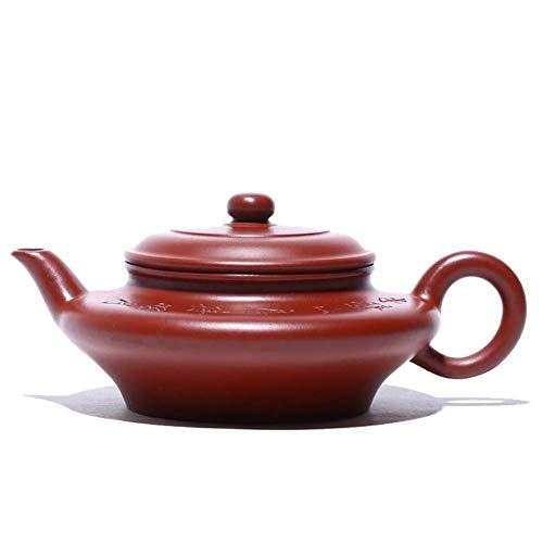 Tetera, Tetera de hierro fundido, conjunto Tetera Xinquan tetera de Yixing Wang famoso a mano rojo grande tetera Industrial e imaginario plano del juego de té de la tetera La decoración del hogar actu