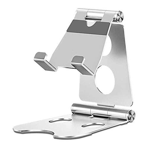 Soporte ajustable del teléfono móvil Soporte de la aleación de aluminio de la tableta del soporte del escritorio del soporte de escritorio portátil de la mesa del soporte del teléfono