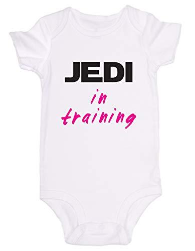 Promini Combinaison bébé mignonne Jedi en formation Rose Star Wars – Body bébé mignon en une seule pièce pour bébé - Blanc - 12 mois