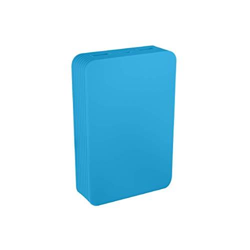 Juice Power Station Extra High Capacity Portable Power Bank, Compatible with iPhone, Samsung, Huawei, iPad, 11200 mAh, Aqua